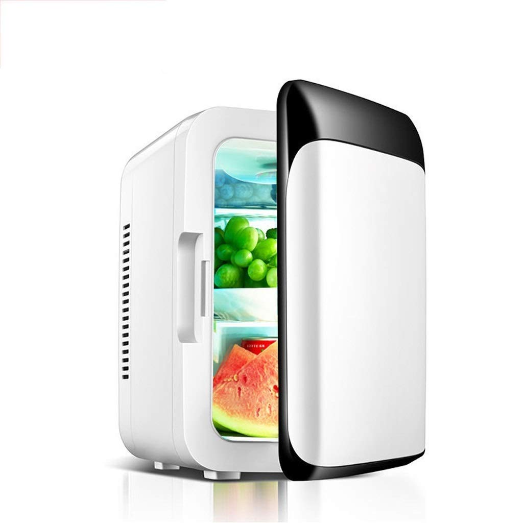 Lcxligang 8L Car Refrigerator, Portable Freezer Black White Car Mini Refrigerated Electronic Refrigerated