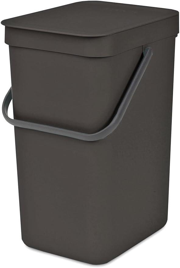 Brabantia 109805 Sort & Go Waste Bin, 12L, Gray