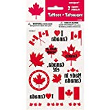 Canada Day Leaf Temporary Tattoo Sheets - Birthday and Theme Party Supplies - 30 per Pack - From Fun365