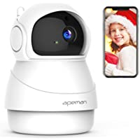 APEMAN WiFi Camera, 1080P FHD IP Camera,Home Indoor Security Camera with Night Vision,2-Way Audio, Motion Detection,Wireless CCTV Monitor for Baby