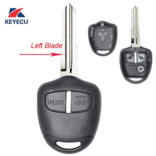 Replacement Housing Shell Remote Blank Key Case Fob 2 Button For MITSUBISHI Pajero Triton Lancer Evo Left Blade