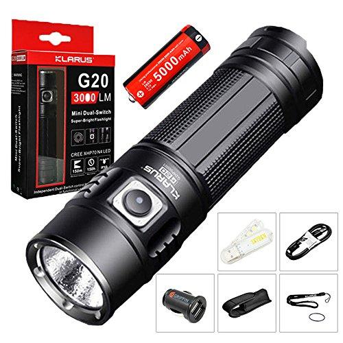 Bundle Rechargeable Flashlight Dual Switch 5000mAh