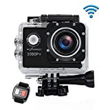 NEXGADGET WIFI Action Cam, DISCOVER-1012FS SERIES 12MP 1080P Waterproof Sports Camera 170 Degree Ultra Wide-Angle Lens, 2 Pcs Rechargeable Batteries