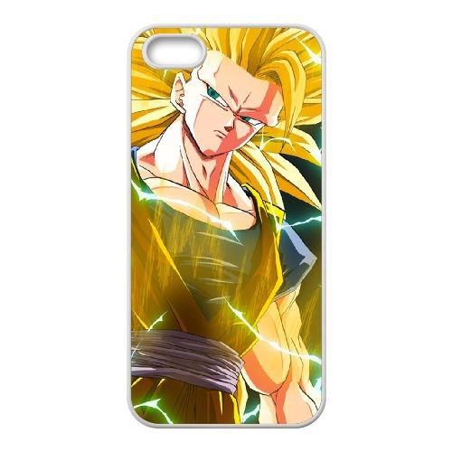 Dragon Ball Z 018 coque iPhone 4 4S Housse Blanc téléphone portable couverture de cas coque EOKXLLNCD19999