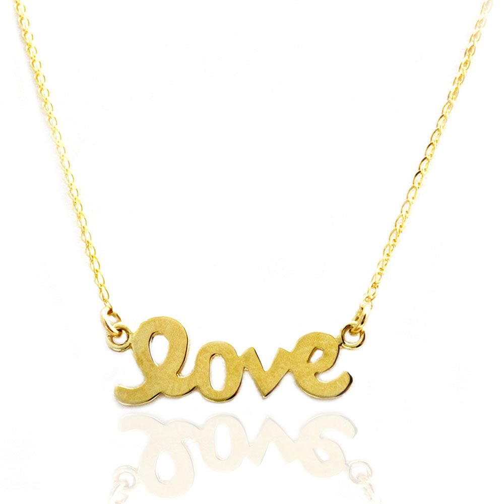 14k Gold Love Necklace (yellow-gold, 16 Inches)