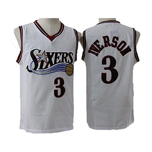 Kid's Iverson Jerseys Philadelphia 3 Youth Allen Jersey Boys Basketball Jerseys White