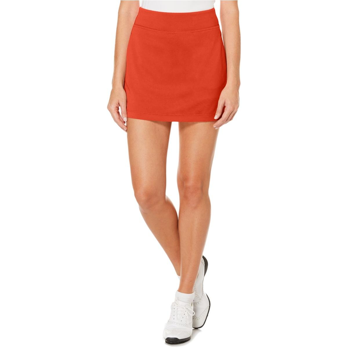PGA TOUR Women's 16'' Airflux Solid Knit Skort with Tummy Control, Dubarry, Extra Small