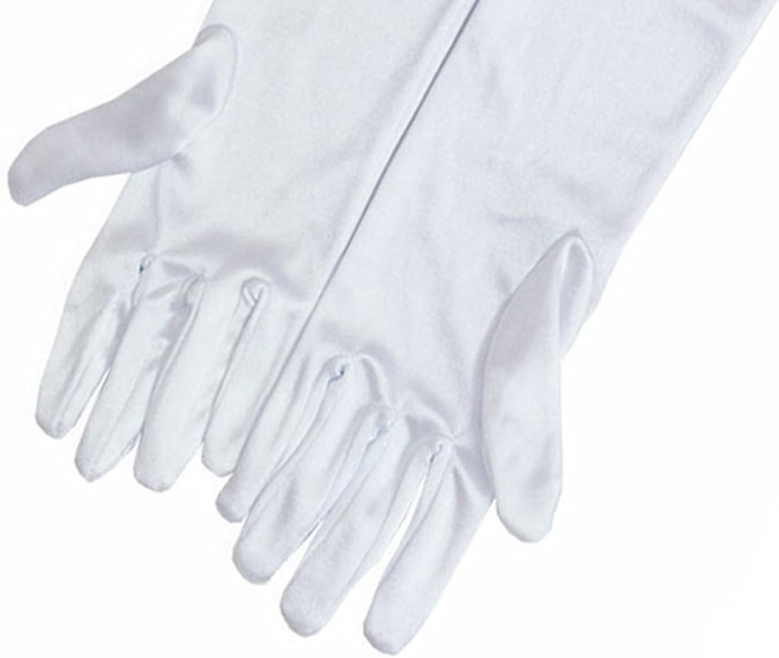 color blanco Guantes de sat/én para todas las ocasiones Audrey Hepburn