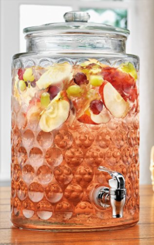 glass beverage dispenser 2 gallon - 8