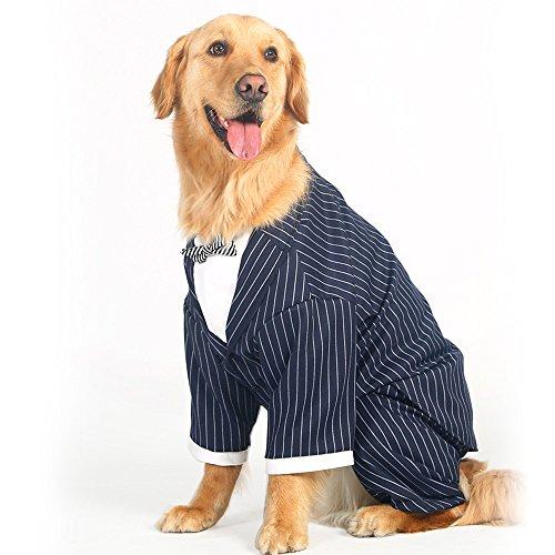 Big Large Dog Wedding Tuxedo Garment Clothes For Bulldogs Dog Formal Party  Suit Shirt With Dog Bow Tie Golden Retriever Big Bog Coat Jacket Costume