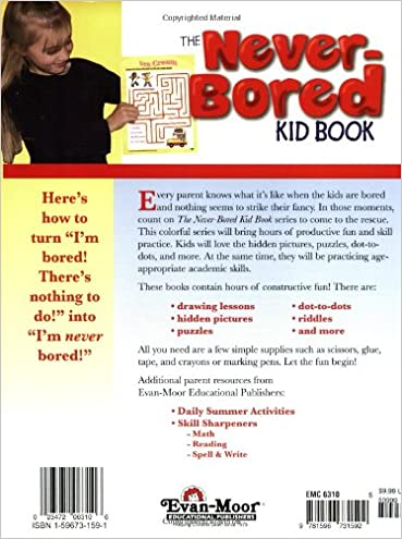 Never-Bored Kid Book 2, Ages 7-8: Evan-Moor: 9781596731592: Amazon ...