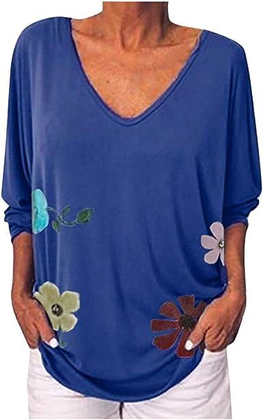 VEMOW Camiseta Blusa Mujer Superior Informal con Estampado ...