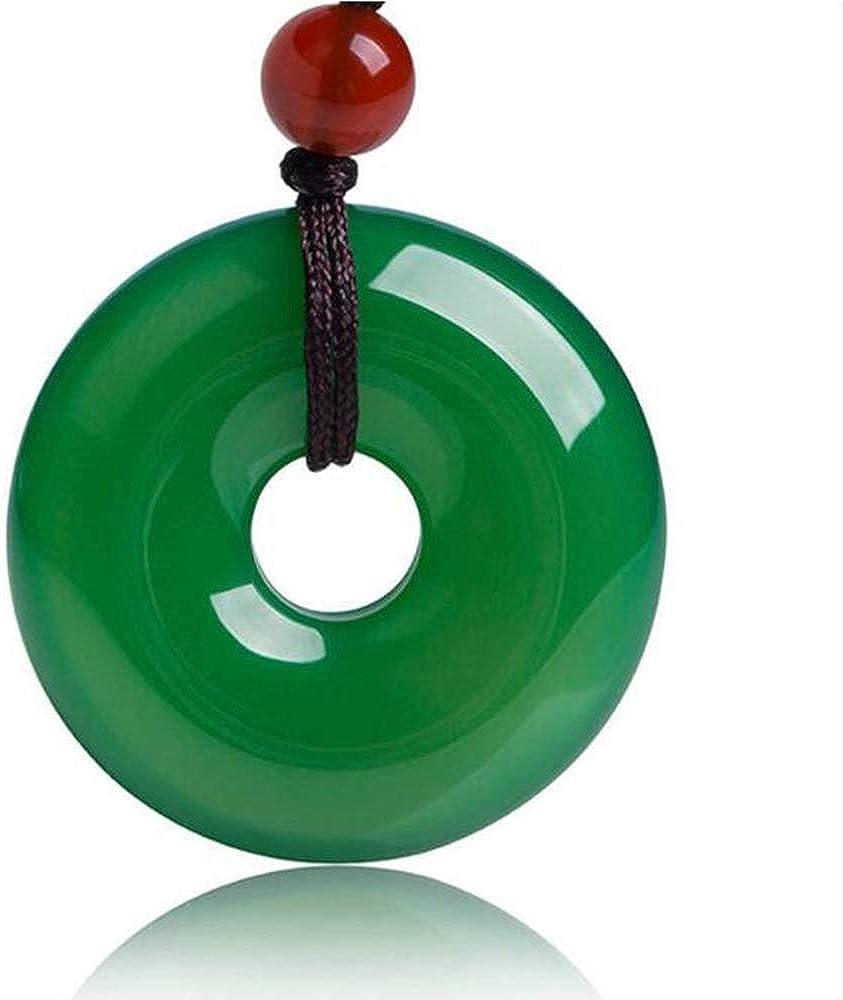 ZHIBO Joyería fina verde natural del jade medular de suerte colgante collar mujer hombre blessing regalos calientes