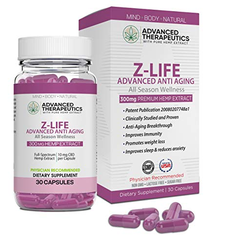 51JevD35wdL - Z Life Stem Cell Supplement Patented Anti-Aging Supplement. Destroys Fat Cells, Increase Lean Muscle, Improve Mood,Immunity and Bedroom Performance with Hemp Extract