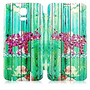 DUR Bamboo Forest Elephant Pattern PU Leather Full Body Case for Samsung Galaxy S5 I9600