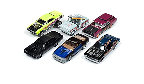 Amazon.com: Street Freaks 2018 Release 2 Set B of 6 Cars 1/64 Diecast Models by Johnny Lightning JLSF008 B: Toys & Games