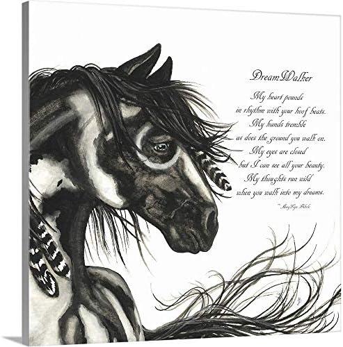 Majestic Horse DreamWalker Poem mm45 Canvas Wall Art Print