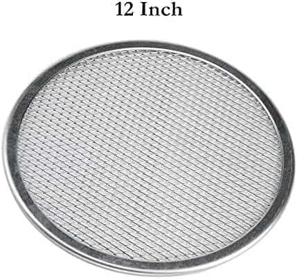12'' Pizza Screen Seamless Aluminum Chef's Baking Screen,Commercial Grade Pizza Pan Supplies