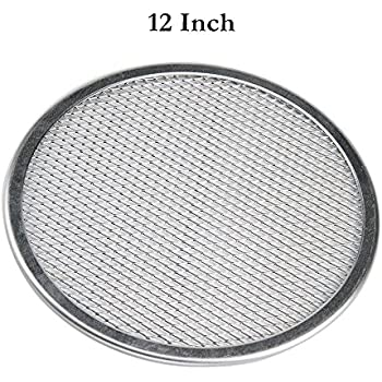 12 Pizza Screen Seamless Aluminum Chefs Baking Screen,Commercial Grade Pizza Pan Supplies