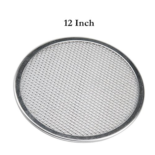 Classic Pizza Pan - 12'' Pizza Screen Seamless Aluminum Chef's Baking Screen,Commercial Grade Pizza Pan Supplies