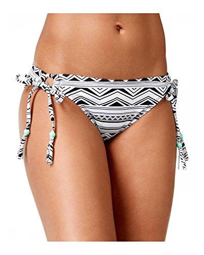 Bikini Nation Juniors' Tribal Twin Printed Side-Tie Hipster Bikini Bottom (Large, Black/White) (Side Tie Hipster)