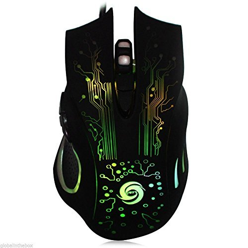 XENO-Gaming Mouse Mice 6 Buttons DPI Adjustable Computer Optical USB Wired 7 colors (Mad T Party Band Costumes)