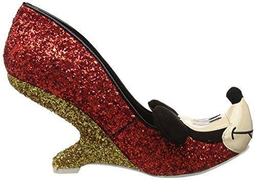 gold Femme Oh red Escarpins Choice Fermé Boy Irregular Bout A Rouge wzYx8Y6