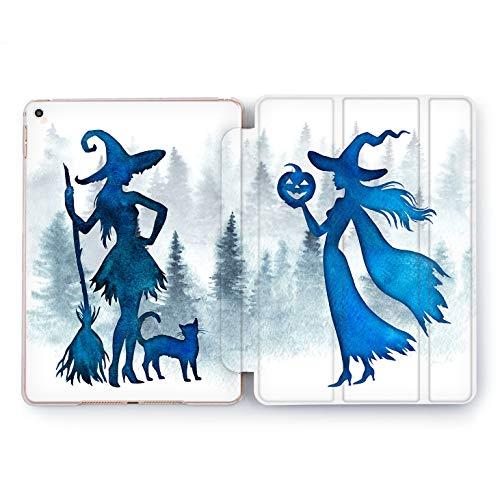Wonder Wild Cute Witch Apple iPad Pro Case 9.7 11 inch Mini 1 2 3 4 Air 2 10.5 12.9 2018 2017 Design 5th 6th Gen Clear Smart Hard Cover Cartoon Halloween Girly Friends Black Cat Salem Nature Pumpkin