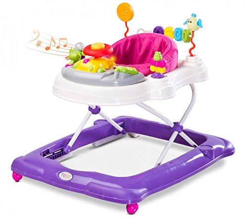 Caretero Toyz Stepp Lauflernhilfe Gehhilfe Laufhilfe mit Spielcenter Purple
