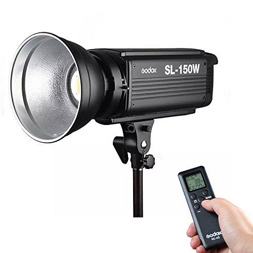 Godox SL-150W 150W 5600K 6 Groups 16 Channel LED Video Light LCD Panel Studio Light with Wireless Remote Control + Microfiber Cloth - White Version