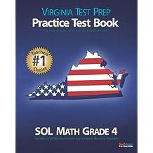 VIRGINIA TEST PREP Practice Test Book SOL Math Grade 4