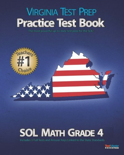 VIRGINIA TEST PREP Practice Test Book SOL Math Grade 4