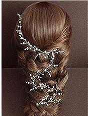 Aukmla Wedding Hair Vine Bridal Hair Accessories headpieces for Bride and Bridesmaids