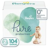 : Diapers Size 2, 104 Count - Pampers Pure Disposable Baby Diapers, Hypoallergenic and Unscented Protection, Giant Pack