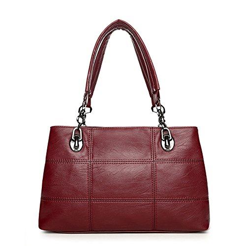 Meaeo Bag Hand Bag New Bag Ladies Seams Lychee Pattern, Blue Network