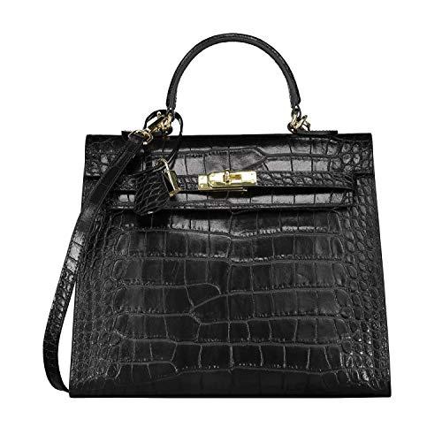 Designer fourre tout Noir à Dames sac haute cuir fait Sac à main de Croco Sacs Femmes Sacs qualité bandoulière Sac à GRAZIA en italien main Hobo main gEw5FqEx