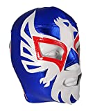 MEXICANO Adult Lucha Libre Wrestling Mask (pro-fit) Costume Wear - Blue/White