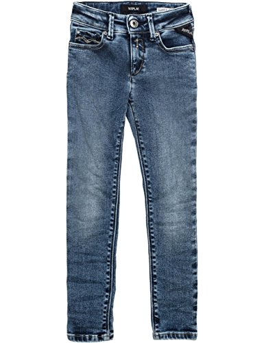 Replay Girls Blue Denim Trousers In Size 8 Years Blue by Replay