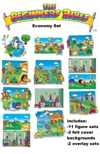 The Beginners Bible in Felt Economy Set- Figures, Felt Covers, Overlays, Stories