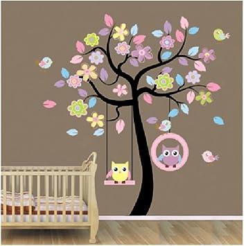 A Szcxtop Eule Baum Wandtattoo Wandaufkleber Wall Sticker