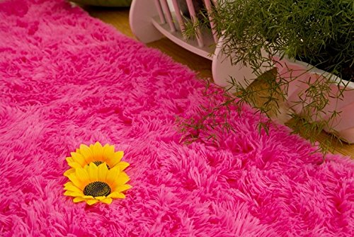 Amazoncom Forever Lover Soft Indoor Morden Shaggy Area Rug Pad 25 X 5feet Hot  Pink Kitchen U0026amp Dining.