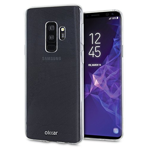 Olixar Samsung Galaxy S9 Plus Clear Case - Slim Soft Gel Cover - Ultra Thin 100% Clear - Flexible Transparent Case - Wireless Charging Compatible
