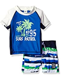OshKosh baby-boys Baby Infant Surf Patrol Rash Guard Set