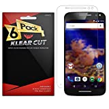 xtremeguard carbon fiber - Klear Cut [6 Pack] - Screen Protector for Motorola Moto X Pure Edition/Moto X Style - Lifetime Warranty - Anti-Bubble & Anti-Fingerprint High Definition (HD) Clear Premium PET Cover