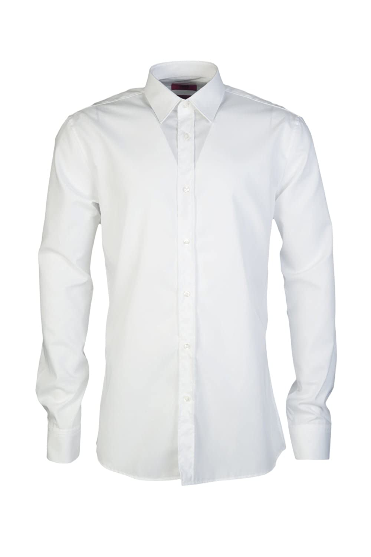 e0d36098c Amazon.com: Hugo Boss Mens Smart Shirt ELISHA01 50291326 Size 42 White: HUGO  BOSS: Clothing