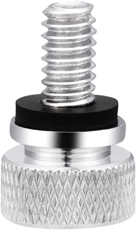 Amazicha Chrome Seat Bolt Seat Screw Quick Mount Compatible for Harley Davidson Sportster Softail Touring Dyna 1996-2019
