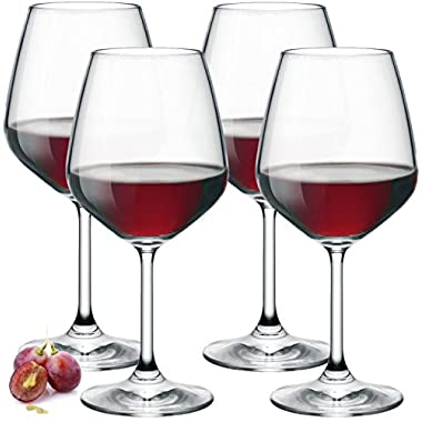 Paksh Novelty Wine Glasses, 18 oz, Set of 4