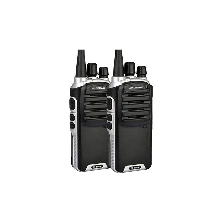 Baofeng BF 888S Plus UHF Walkie Talkie Long Distance Range Communication Two Way Radios(Pack of 2)