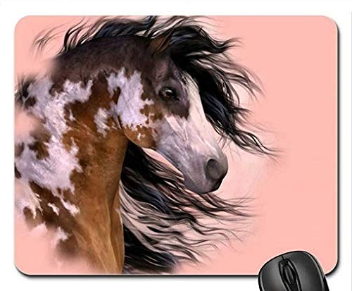 (Tricolored Paint Horse F Mouse Pad, Mousepad (Horses Mouse Pad))
