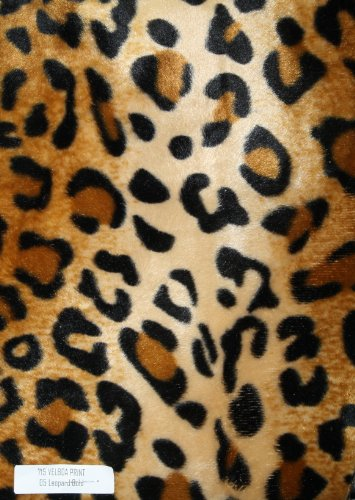 Velboa Animal Print Faux / Fake Fur Leopard Gold Fabric By the Yard by Fabric ()